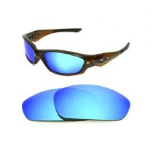 NEW POLARIZED CUSTOM ICE BLUE LENS FOR OAKLEY STRAIGHT JACKET 2007+ SUNGLASSES